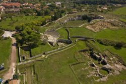Aerial photo shows localizations of main archaeological structures (fot. Bogacki M.)