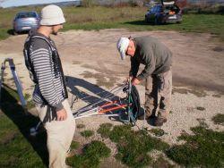 The preparation of equipment (fot. Kaniszewski J.)